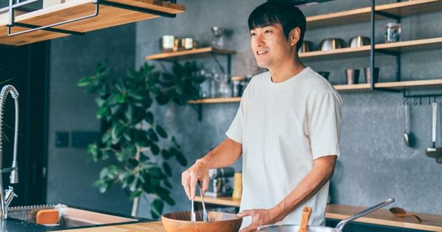 料理をしている写真